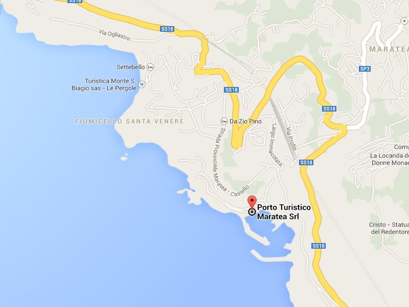 Mappa Porto di Maratea